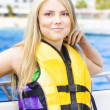 Woman On Sightseeing Boat Tour - Stock Photo