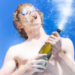Exploding Champagne Spray — Stock Photo