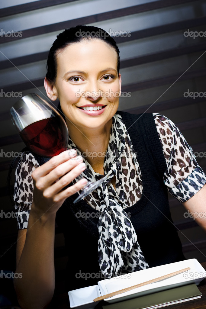 Food And Beverage Critic Holding A Glass Of Sauvignon Blanc Red Wine While Sampling And Rating During A Beverage Judging Event — Stock Photo #9792008
