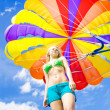 Stock Photo: Parasailing On Summer Vacation