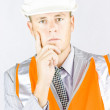 Stock Photo: Think Smart And Work Safe