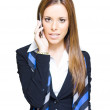 Stock Photo: Attractive Confident Business WomOn Smart Mobile Phone