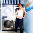Stock Photo: Laundry Mat Woman