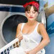 Woman Washing Clothes — Stock Photo