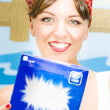 Foto Stock: Washing Powder Woman