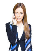 Attractive Confident Business Woman On Smart Mobile Phone — Stock Photo
