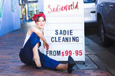 Sadie The Cleaning Lady — Stock Photo