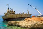 Abandoned ship Edro — Stock Photo