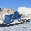 Stock Photo: Dolomites alps in snow