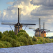 Windmills in Kinderdijk, Holland — Stock Photo