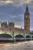 Westminster Bridge with Big Ben in London — Stock Photo