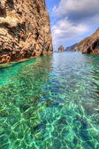 Palmarola cristal water, Italy — Stock Photo