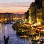 Grand Canal at night, Venice. Italy — Stock Photo #8053722