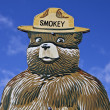 Stock Photo: Smokey the Bear Fire Prevention Sign