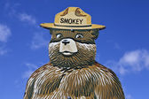 Smokey the Bear Fire Prevention Sign — Stock Photo