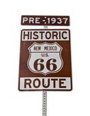 Old Route 66 New Mexico Sign Isolated — Stock Photo