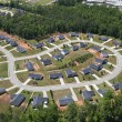 Suburban Culdesac Aerial — Stock Photo