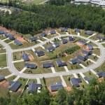 Suburban Culdesac Aerial — Stock Photo