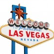 Stock Photo: Las Vegas Sign Isolated