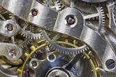 Antique Pocket Watch Inside Macro — Stock Photo