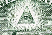 Eye of Providence Macro on the US One Dollar Bill — Stock Photo