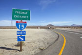 Mojave Desert Interstate 15 Freeway near Baker California — Stock Photo