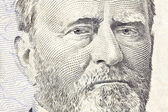 Ulysses S Grant Macro Close Up US Fifty Dollar Bill — Stock Photo