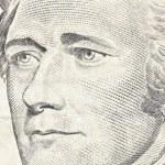 Alexander Hamilton Macro Close Up US Ten Dollar Bill — Stock Photo #10590335
