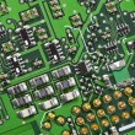Macro Close Up High Tech Circuit Board — Stock Photo