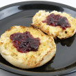 Royalty-Free Stock Photo: English Muffin with Jam