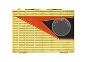 Grungy Vintage 1950's Googie Radio — Stockfoto