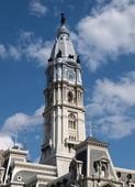 Torre do relógio philadelphia city hall — Foto Stock