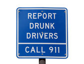 Report Drunk Drivers Sign — Stock Photo