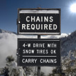 Chains Required — Stock Photo