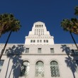 Palm Trees at City Hall - Stock Photo