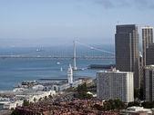 San Francisco and Bay Bridge — Stock Photo