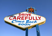 Las Vegas Sign Backside — Stock Photo