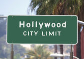 Hollywood City Limits Sign — Stock Photo