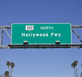101 Hollywood Fwy with Palms — Stock Photo