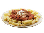 Rigatoni with Mini Meatballs — Stock Photo