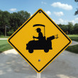 Stock Photo: Golf Crossing Sand Trap