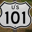 US 101 Sign — Stock Photo