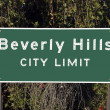 Stock Photo: Beverly Hills City Limits Sign