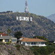 Hollywood Sign and Homes - Stock Photo