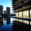 Downtown LA Reflecting Pond - Stock Photo