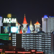 MGM and Excalibur Resorts in Las Vegas — Stock Photo