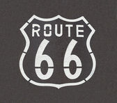 Route 66 Straight Down — Stock Photo