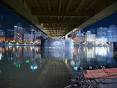 Under a Pittsburgh Bridge. — Foto Stock