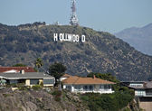 Hollywood Sign and Homes — Stock Photo