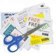Completely Fake Fashion Coupons with Scissors — ストック写真 #8002049